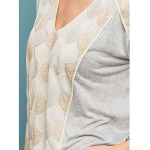 Tiny Brand Sea Fan Embroidered Top